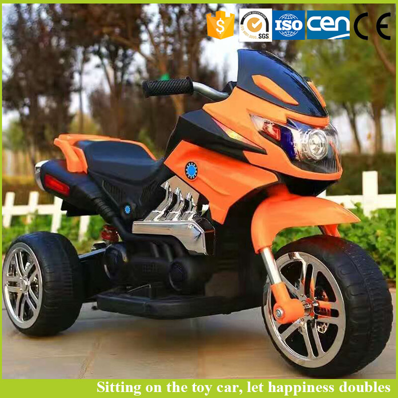 2016 new products plastic kids electric motorcycle with 12V battery