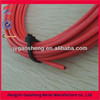 coiled plastic coated steel cable