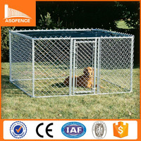 Heavy duty galvanized metal chain link Dog Kennel Crates