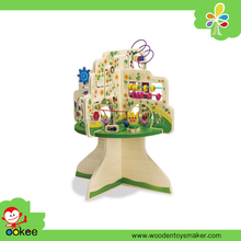 Educational toy tree top activity cube for kids