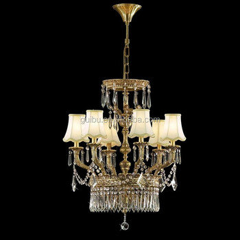 Euroepan modern design clear crystal brass chandelier light