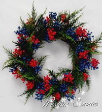 Artificial evergreen Christmas wreaths factory direct sale