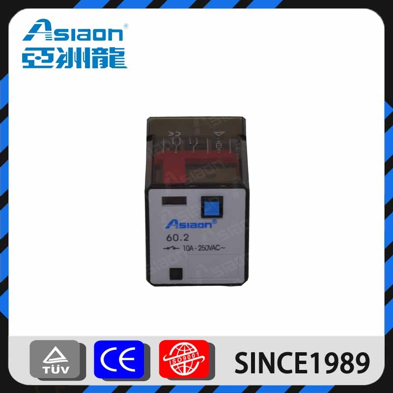 ASIAON Wenzhou Factory Wholesale 8 Tube Pin 10A 110 VAC General Purpose Relay60.2