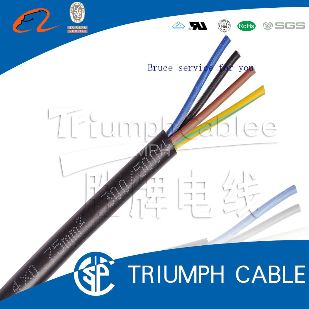 Copper conductor Silicone + PUR insulate electrical power cable