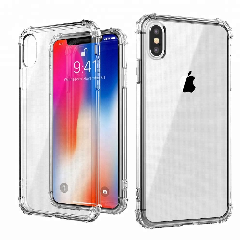Crystal Clear Shock Absorption Technology Bumper Soft Clear TPU Cover Case for iPhone Xs <strong>max</strong> 6.5 inch new case
