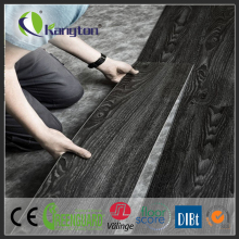 100% pvc waterproof laminated vinyl flooring wood sports glueless PVC tile flooring