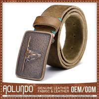 Hotselling Good Price Custom Fit Leather Belt With Covered Buckle