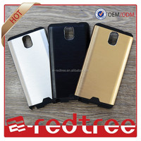 2015 hot sale 2 in 1 aluminum phone cases for samsung note 4