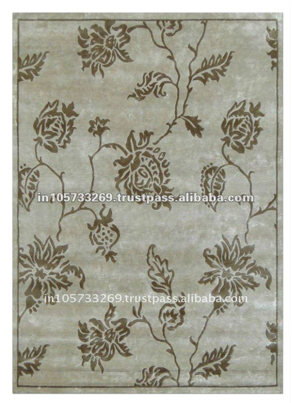 Hot Selling Abstract Hand Knotted Art Silk Carpets & Rugs For sale