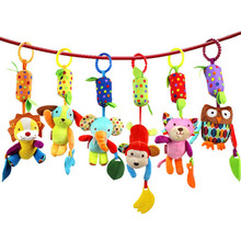 Baby Infant Pram Car Stroller Hanging Rattles Plush Musical Toy For Baby soft toys