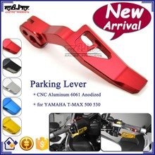 BJ-PL-YA001 Motorcycle Part Manufacturers CNC Aluminum Red Parking Lever For Yamaha T MAX500 530