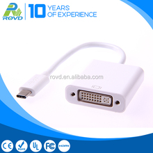 White Color USB 3.1 male to DVI female cable