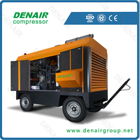 hot sale ! high pressure diesel portable air compressor with CE certificated