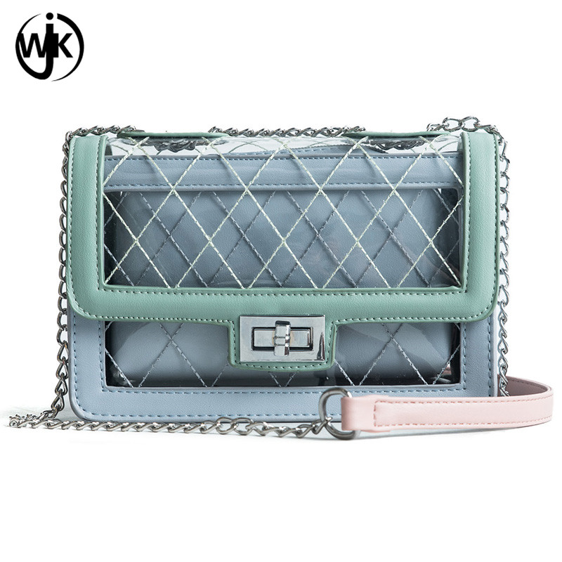 Alibaba online shopping new design lady bag China bag factory 2 in 1 clear pvc crossbody bag