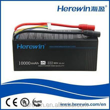 lithium battery supplier rechargeable 7.4v 2s 6s 10C 10000mAh rc lipo flexible lithium ion polymer batteries