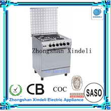 2 Hotplates/electric burner + 2 gas burner free standing gas oven cooker multifunction oven with middle capacity in Iran hot
