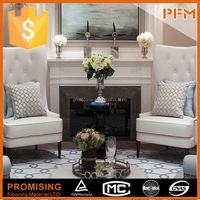 Modern style white marble simple fireplace surround