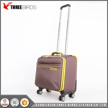 Durable nylon stylish laptop cabin luggage travel trolley bags for adult