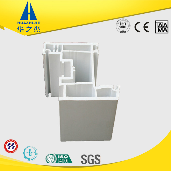 Classic shape upvc extrusion sell pvc white profile for window