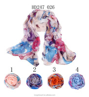 silk crepe georgette scarf fabric yiwu wholesale market scarf HD247 026 shawl and scarves supplier alibaba china