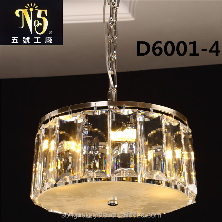 2017 new design morden round led crystal light