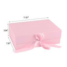 Custom clothes packaging gift box magnetic with ribbon