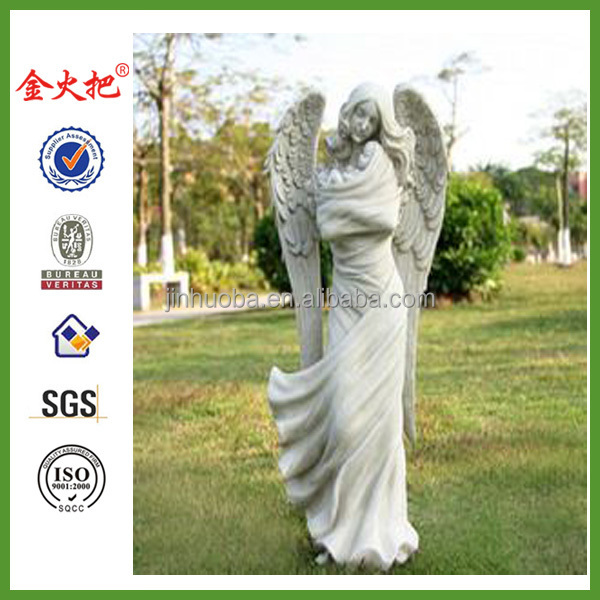Resin angel fall to the ground holding baby furnishing articles outdoor garden villa garden decoration