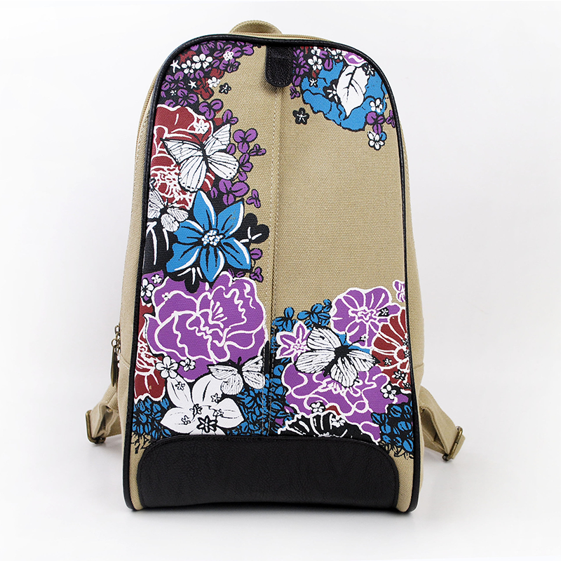 Peking Opera Printed Bags Chinese Fashion Printing Canvas Backpacks for Girls