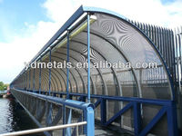 security protecting perforated metal screen