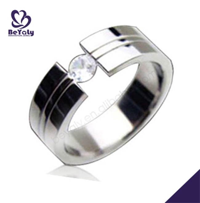 Shiny polish stainless steel wholesale jewellery stones