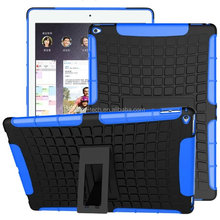 Dual Layer Armor Case PC TPU Hard Stand Tablet Cover Case for Samsung
