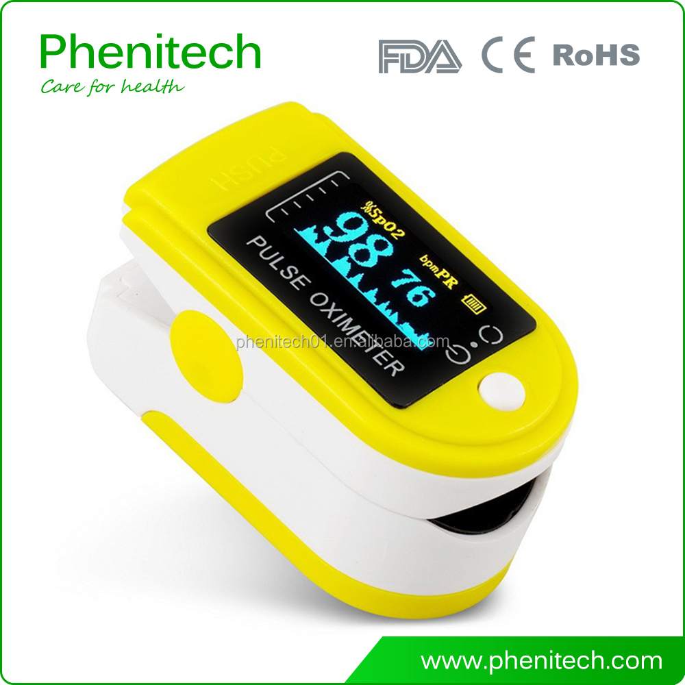 Manufacturer OLED Handheld Spo2 Pulse Oximeter FDA CE Approved with alarm function