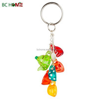 Teapot cup design crystal keychain, resin key ring, polyresin key chain