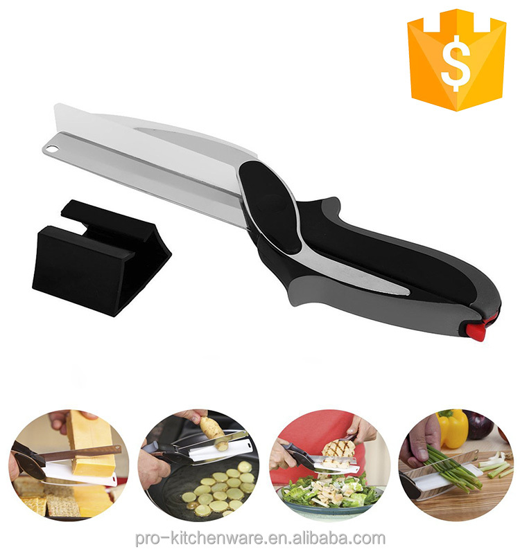 Food Chopper - Kitchen Knives 2-in-1 Food Chopper vegetable cutter