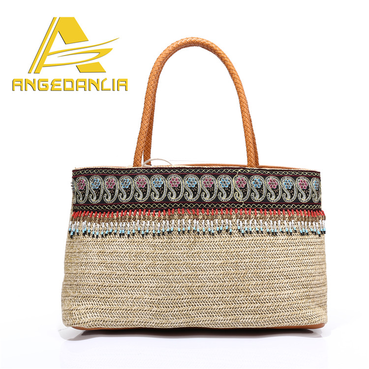 factory direct sale Europe and the United States style straw beach bag for women hand bags