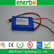 18650 High quality Interphone battery rechargeable li-ion battery pack 11.1v 2200mAh
