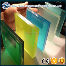 clear extra clear blue green pink black custom made colored tempered laminated glass