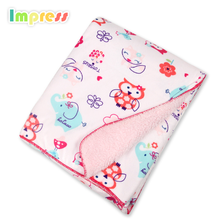 Custom design 2 layer 100% cotton fleece baby blanket