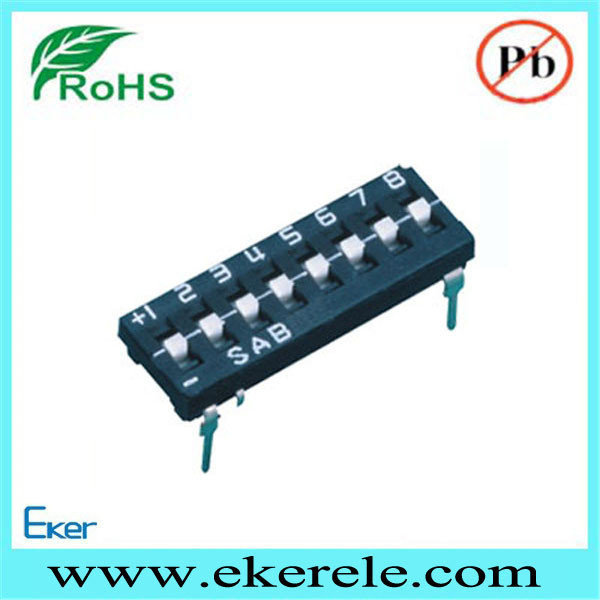 Low Voltage Switch Tri-State Dip Switch 8 Position