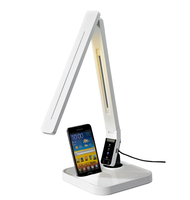 Android smart mobile Charging docking LED light lamp with Temperatures, 4 Color Modes, Dimmer and USB Charging Port