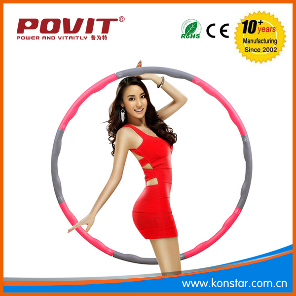 Cheap Gym Equipment Fitness Detachable Folding weighted Foam combiend Massage Hula Hoop