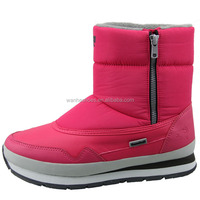jogger snow boots ankle snow boots warm fleece lining YKK side zipper thermal boots