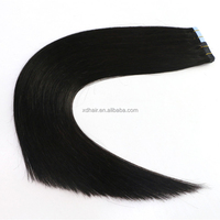 Hot selling top grade 100% unprocessed brazilian PU skin weft tape in hair extension