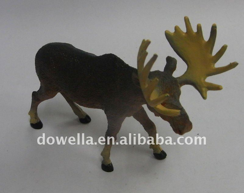 moose figurine toy, soft pvc toy animal