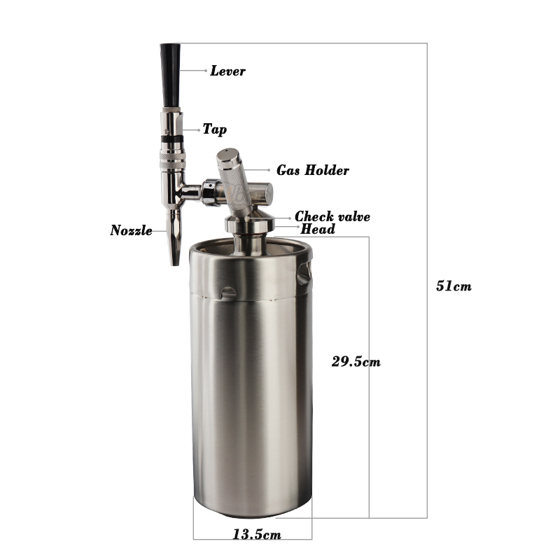 KEG Nitro Cold Brew Coffee Maker 128 OZ Mini Stainless Steel Keg Home brew coffee System Kit Best Choice of Diy Coffee Lovers