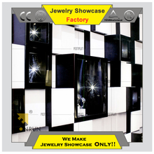 2015 Luxury wooden jewelry wall mounted display cabinet cabinet for jewelry