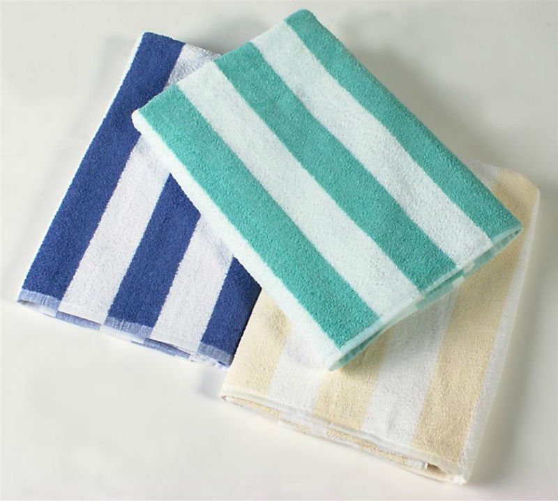 100% Cotton Cabana Style Stripe Beach Towels