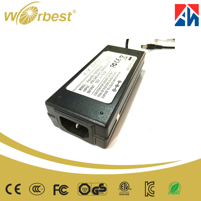 OEM manufacturer 12Vdc 24Vdc 1A 2A 3A 4A 5A LCD Power Adapter EMI