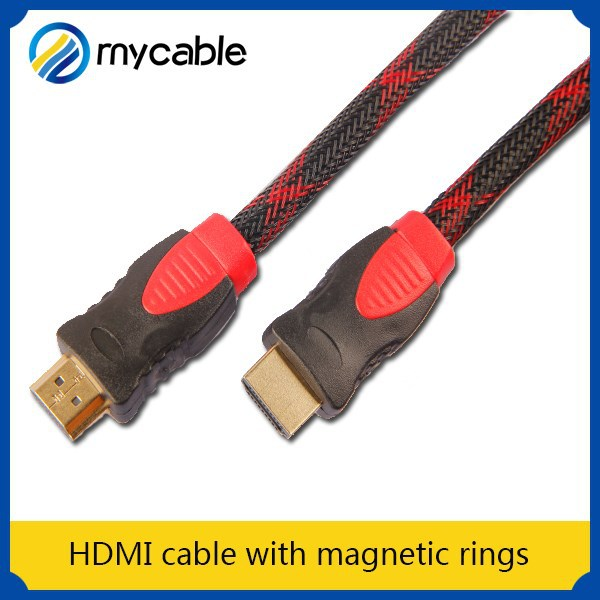 HDMI cable with magnetic rings hdmi input to rca output