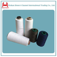 well made polyester spun knitting yarn for jeans manufacturing process